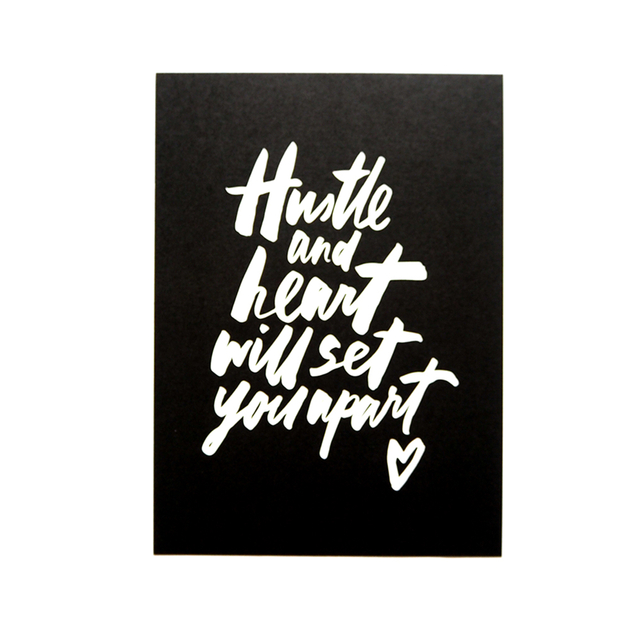 Hustle and Heart Print