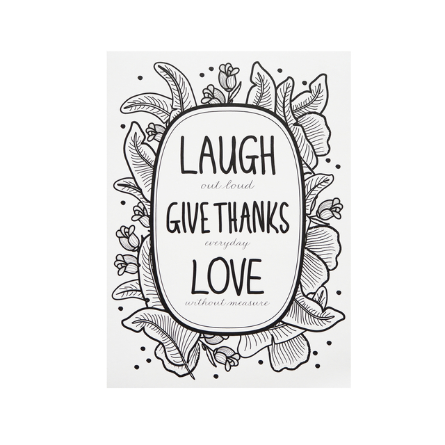 Laugh, Give Thanks, Love Print