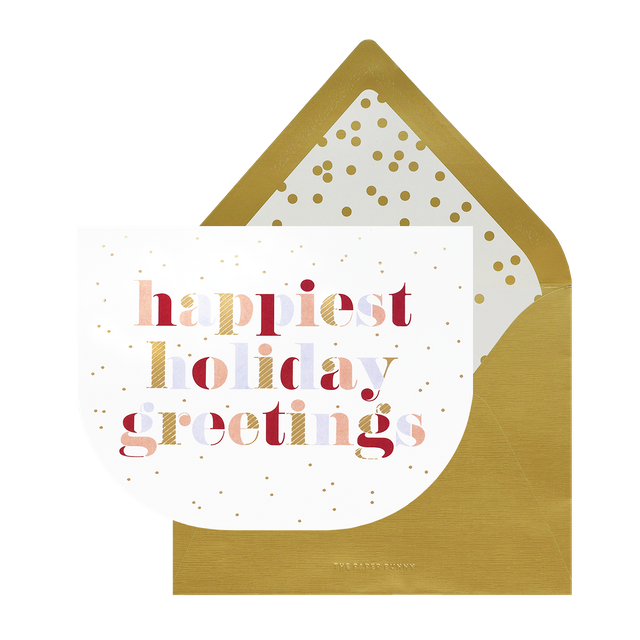Happiest Holiday Greetings Card