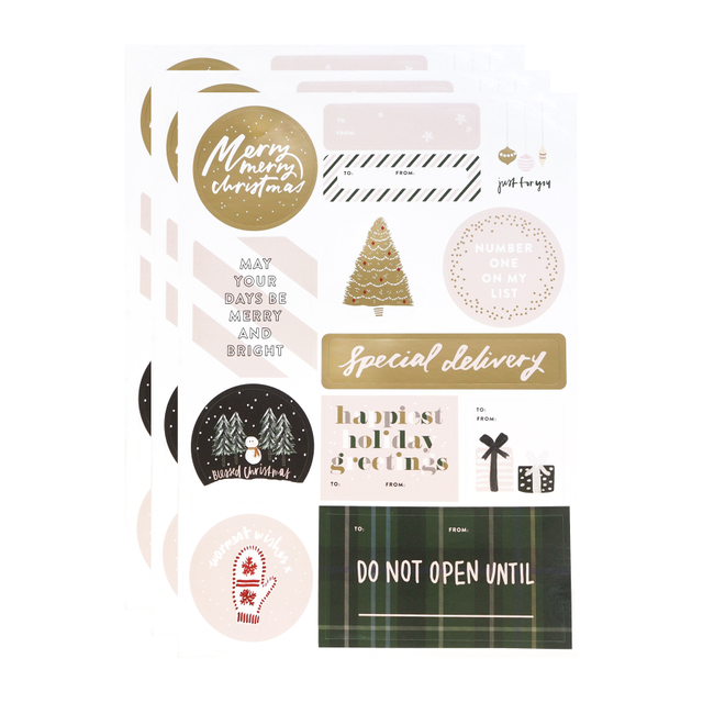 Festive Sticker Labels