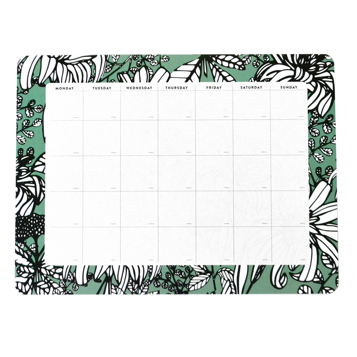 Seafoam Green Monthly Desk Planner The Paper Bunny