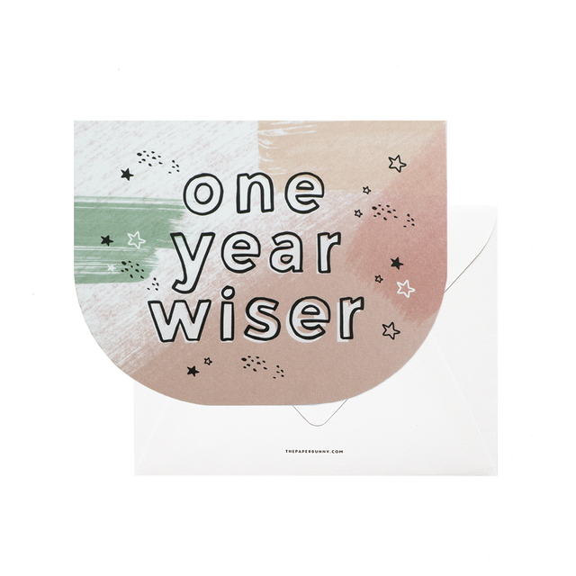 One Year Wiser Card