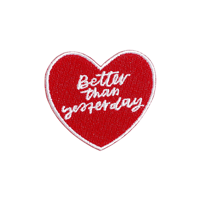 Better Than Yesterday Heart Patch