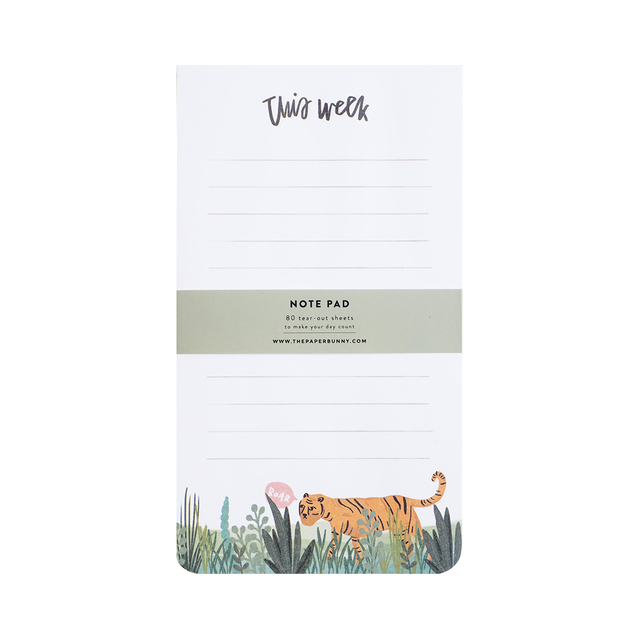 This Week Tiger Notepad