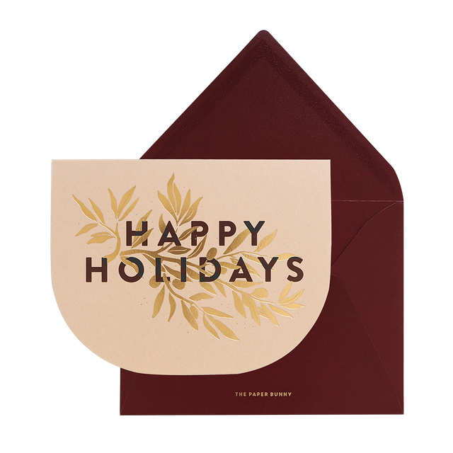 Happy Holidays Velvet Card