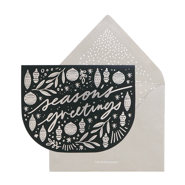 Seasons Greetings Ornament Card