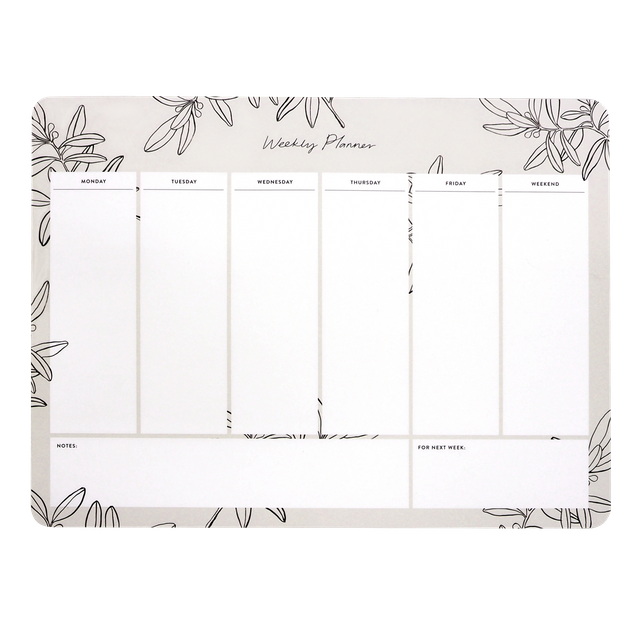 Olive Leaves Weekly Desk Planner
