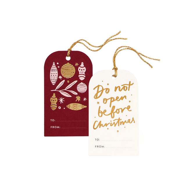 Gold Christmas Gift Tags