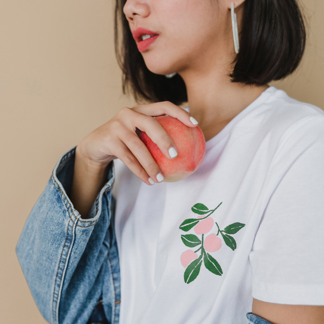 Painted Peaches Tee