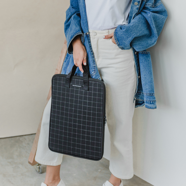 Okay Let's Do This Grid Laptop Bag