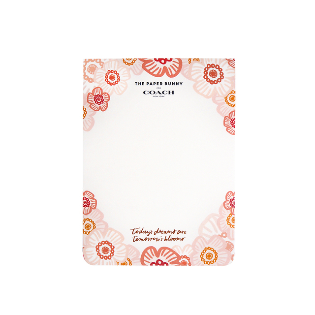 The Paper Bunny For Coach Floral Notepad (Limited Edition)