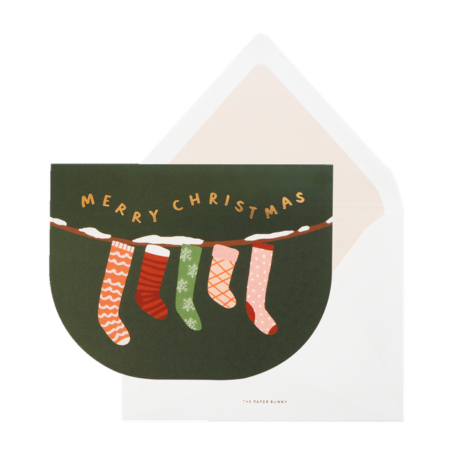 Merry Christmas Stocking Card