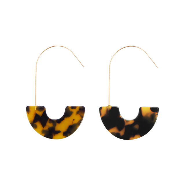 Erin Earrings (Tortoise)