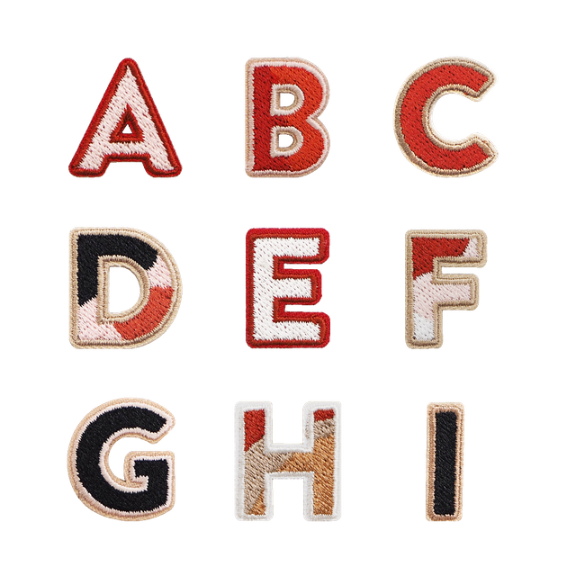 Alphabet Sticker Patches