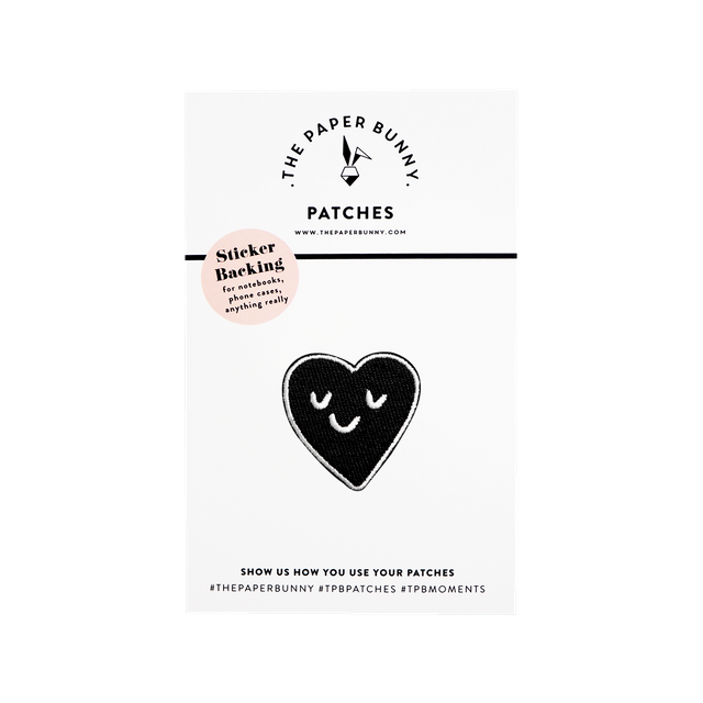 Monochrome Heart  Patch