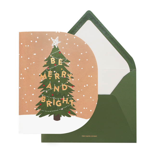Be Merry and Bright Christmas Tree Card