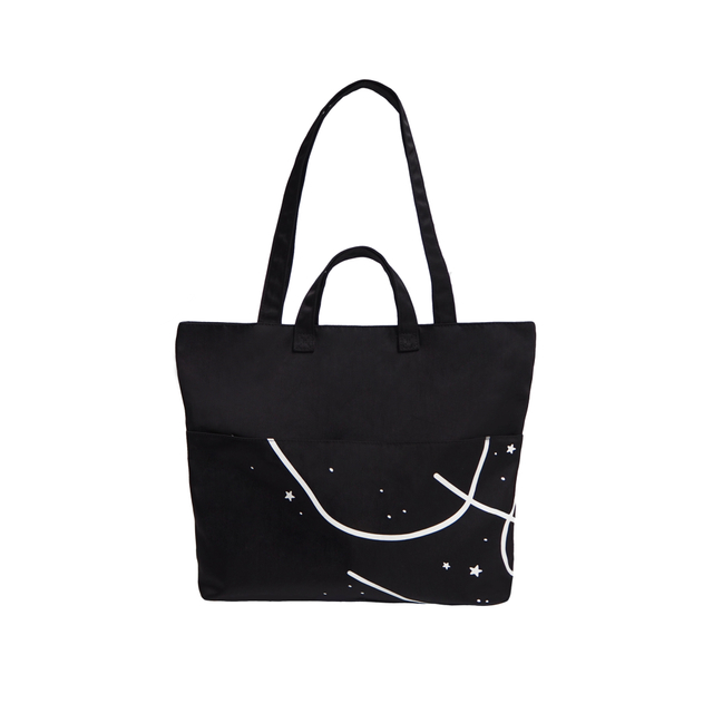 Cosmic Black Tote Bag