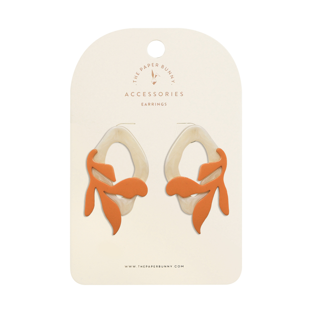 Isabelle Coral Earrings