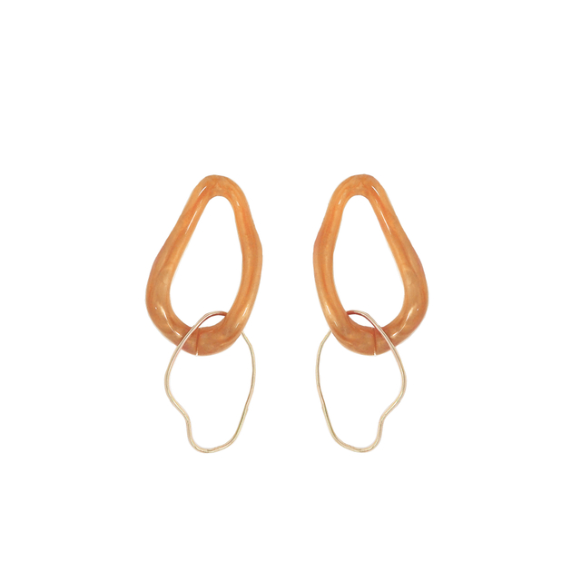 Gaia Orange Earrings