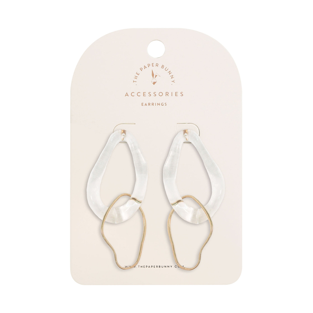 Gaia Clear Earrings