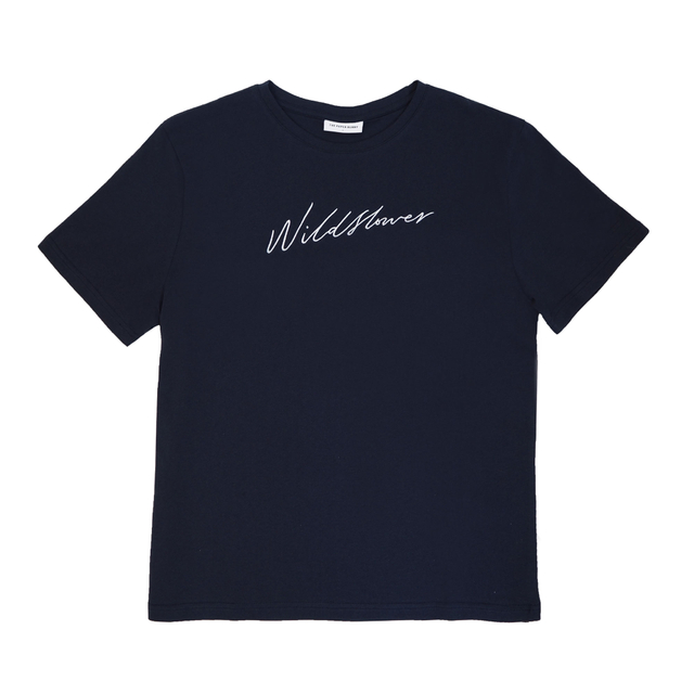 Wildflower Navy Tee