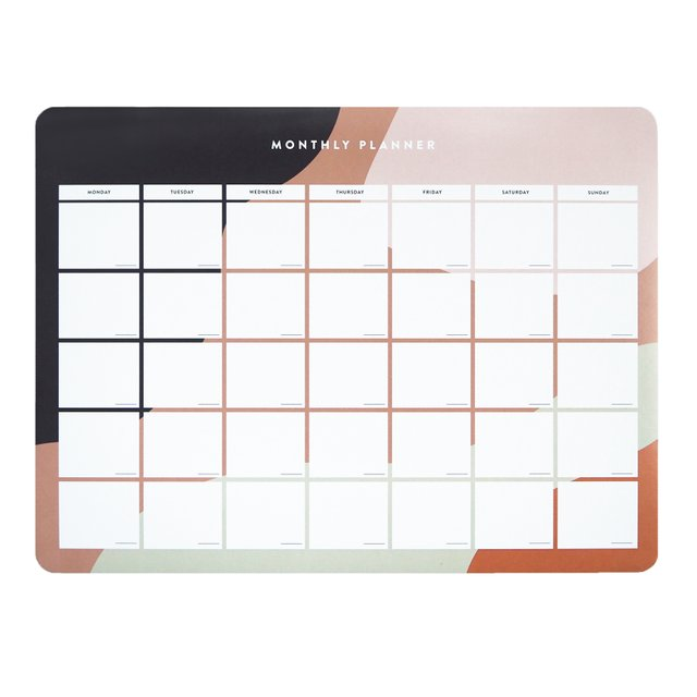 Cora Blush Monthly Desk Planner