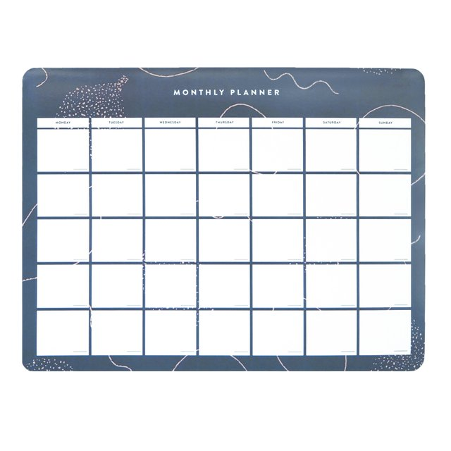 Faye Blue Monthly Desk Planner