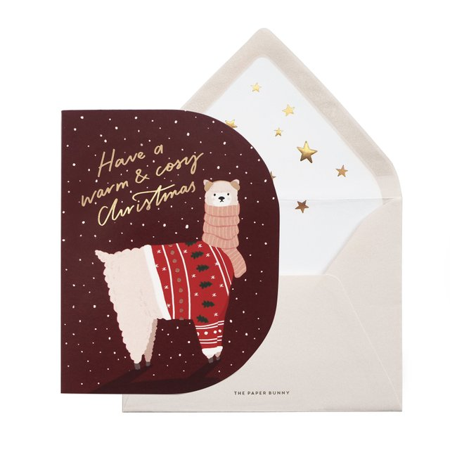 Cosy Alpaca Christmas Card