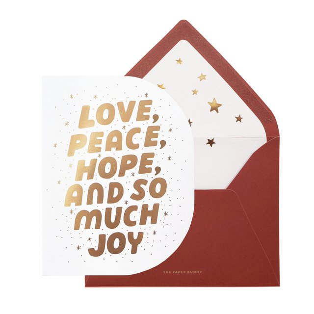Love Peace Hope Christmas Card