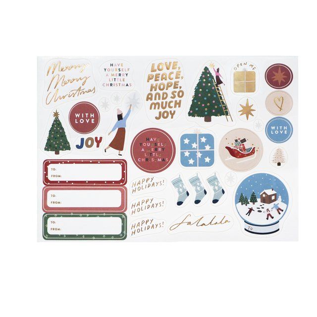Merry Christmas Sticker Labels