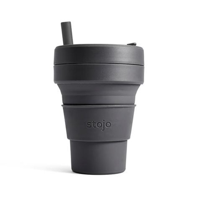The Paper Bunny x Stojo Collapsible Cup Biggie 16oz/470ml (Carbon)