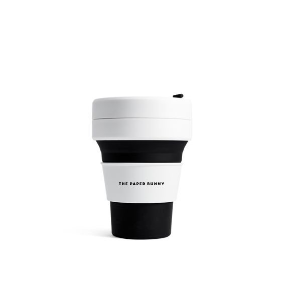 The Paper Bunny x Stojo Collapsible Cup Pocket 12oz/350ml (Black)