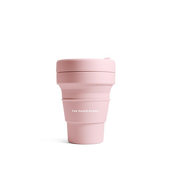 The Paper Bunny x Stojo Collapsible Cup Pocket 12oz/350ml  (Carnation)
