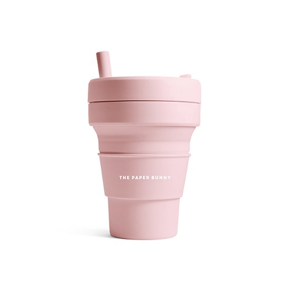 The Paper Bunny x Stojo Collapsible Cup Biggie 16oz/470ml (Carnation)