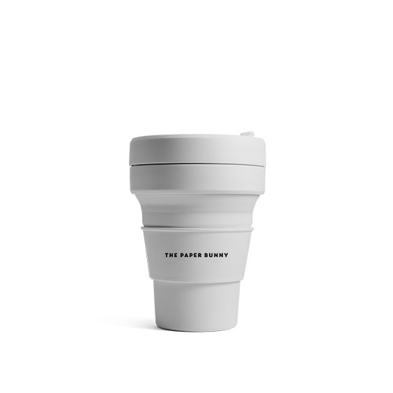 The Paper Bunny x Stojo Collapsible Cup Pocket 12oz/350ml (Cashmere)