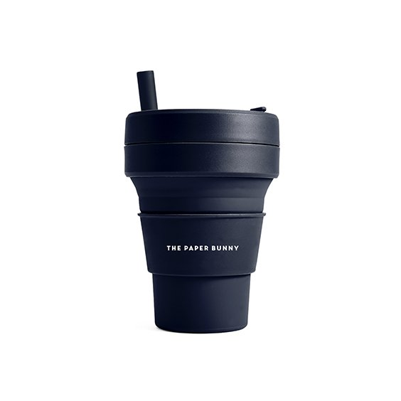 The Paper Bunny x Stojo Collapsible Cup Biggie 16oz/470ml (Denim)