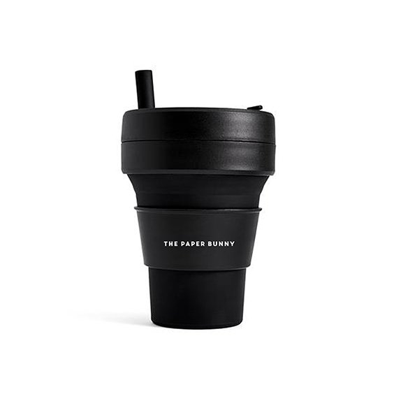 The Paper Bunny x Stojo Collapsible Cup Biggie 16oz/470ml (Ink)