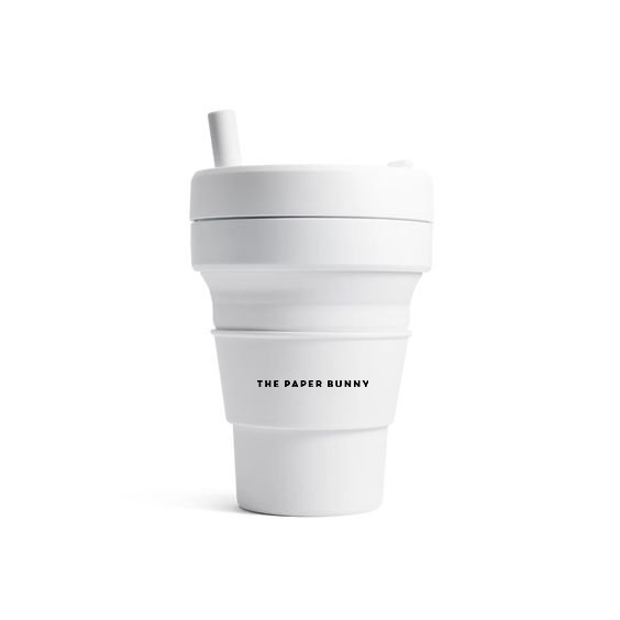 The Paper Bunny x Stojo Collapsible Cup Biggie 16oz/470ml (Quartz)