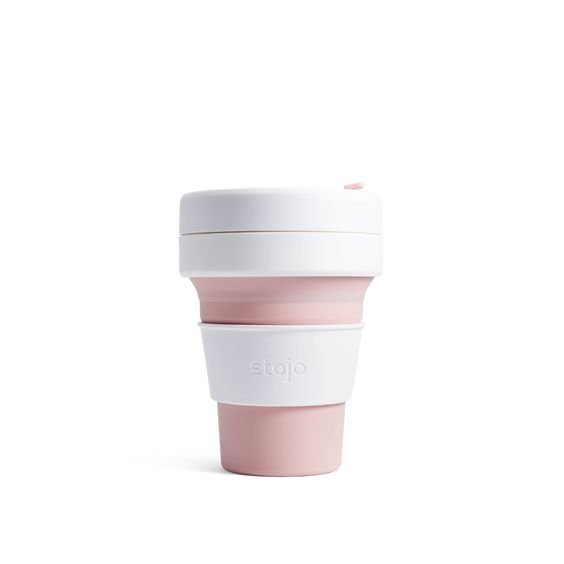 The Paper Bunny x Stojo Collapsible Cup Pocket 12oz/350ml (Rose)