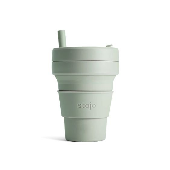 Stojo Collapsible Cup Biggie 16oz/470ml (Sage)