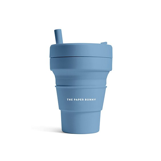 The Paper Bunny x Stojo Collapsible Cup Biggie 16oz/470ml (Steel)