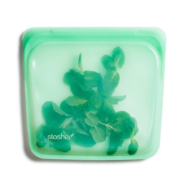 Stasher Reusable Silicone Sandwich Bag (Mint)