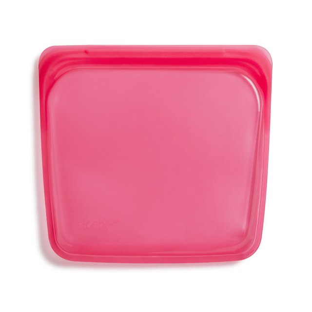 Stasher Reusable Silicone Sandwich Bag (Raspberry)