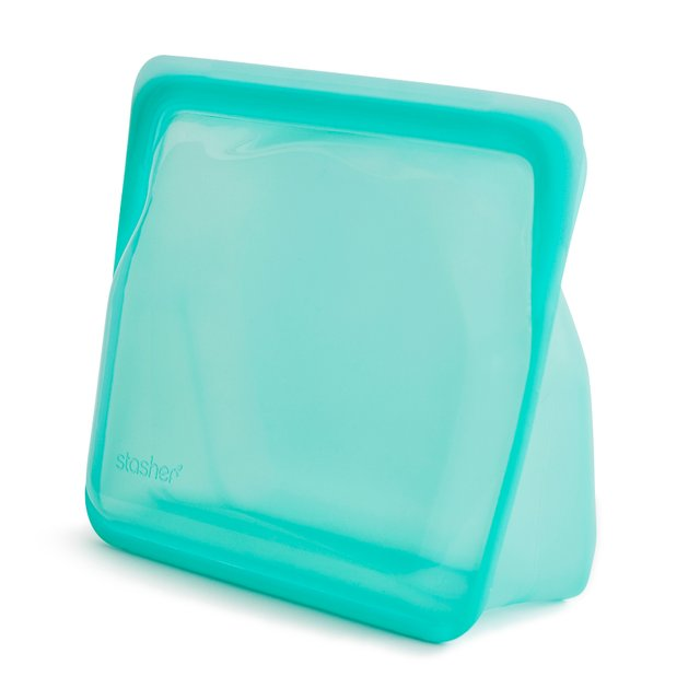 Stasher Reusable Silicone Stand-Up Bag (Aqua)