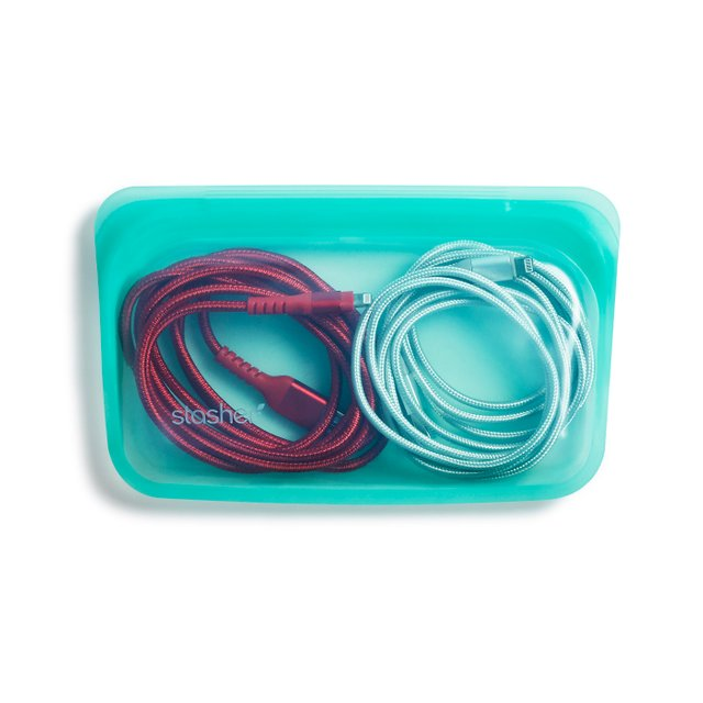 Stasher Reusable Silicone Snack Bag (Aqua)