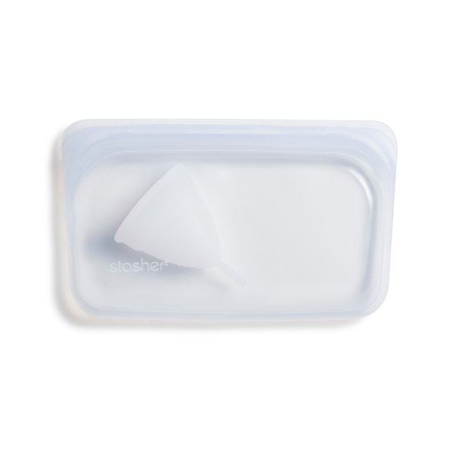 Stasher Reusable Silicone Snack Bag (Clear)