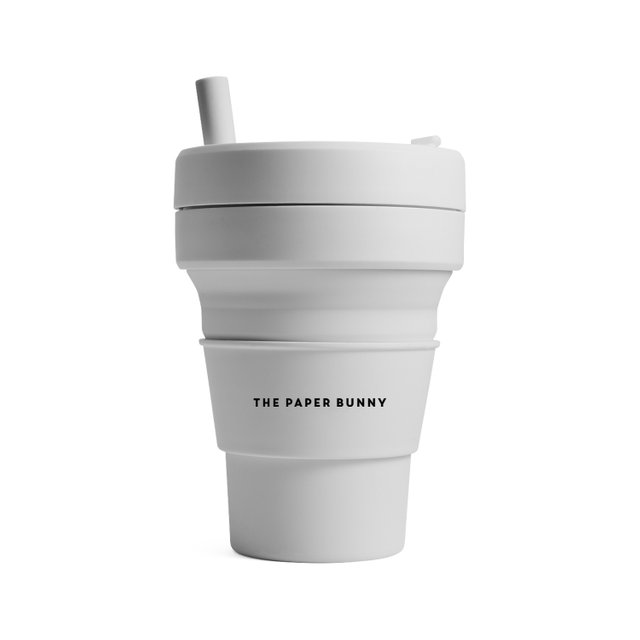 The Paper Bunny x Stojo Collapsible Cup Biggie 16oz/470ml (Cashmere)