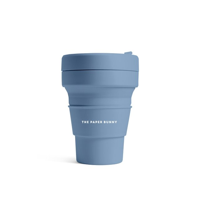 The Paper Bunny x Stojo Collapsible Cup Pocket 12oz/350ml (Steel)