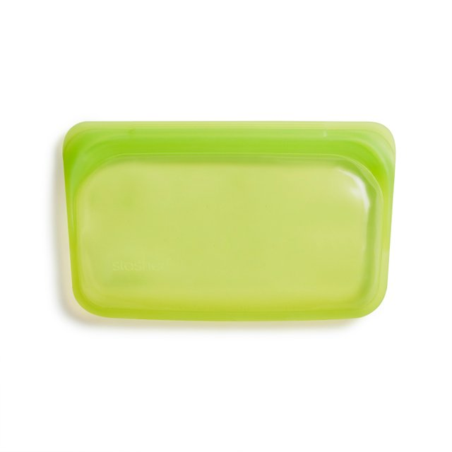 Stasher Reusable Silicone Snack Bag (Lime)