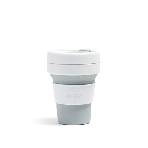 The Paper Bunny x Stojo Collapsible Cup Pocket 12oz/350ml (Dove)